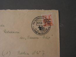 SST Schwerin  Brief Film Wanderausstellung  1948 - Sowjetische Zone (SBZ)