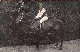 62 - TATINGHEM Par SAINT- OMER - Jockey Sur Sa Monture - Carte Photo A.Trénet - Hippisme