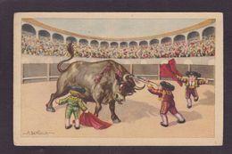 CPA Bertiglia Illustrateur Italien écrite Enfants Corrida Taureau - Bertiglia, A.
