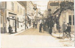 BUZANCAIS (36) Carte Photo Fete Rue Grande Décorée Animation - France