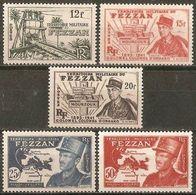 FEZZAN YVERT NUM. 49/53 ** NUEVOS SIN FIJASELLOS - Fezzan (1943-1951)