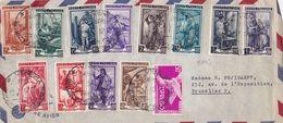 21043# ITALIE LETTRE Obl VENEZIA MESTRE STAZIONE 1952 Pour BRUXELLES ITALIA Belgique - 1946-60: Storia Postale