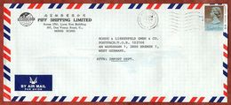 Luftpost, Piff Shipping, Koenigin Elizabeth, Hong Kong Nach Bremen 1990 (95100) - Hong Kong (...-1997)