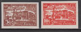 1939 TAFALLA BENEFICENCIA 2 PIEZAS SIN DENTAR**. ESCASOS - Verschlussmarken Bürgerkrieg