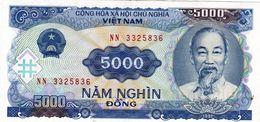"Vietnam 5000 DONG 1991 VF P-108a ""free Shipping Via Regular Air Mail (buyer Risk)"" - Viêt-Nam"
