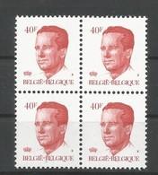 OCB 2136 ** Postfris Zonder Scharnier  In Blok Van 4 - 1981-1990 Velghe