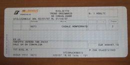 ITALIA Ticket Biglietto Treno Tariffa 39/01 ASTI / CASALE MONFERRATO - 2007 - Chemins De Fer