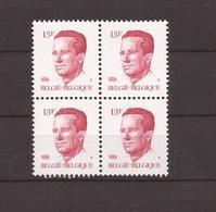 OCB 2203 ** Postfris Zonder Scharnier  In Blok Van 4 - 1981-1990 Velghe