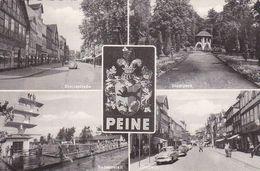 AK Peine - Mehrbildkarte - Breitestraße Stadtpark Badeanstalt Gröpern - 1962 (50952) - Peine