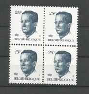 OCB 2356 ** Postfris Zonder Scharnier  In Blok Van 4 - 1981-1990 Velghe