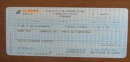 ITALIA Ticket Biglietto Treno EUROSTAR 9307  ALESSANDRIA / FIRENZE RIFREDI - 2007 - Chemins De Fer