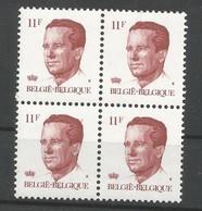 OCB 2085 ** Postfris Zonder Scharnier  In Blok Van 4 - 1981-1990 Velghe