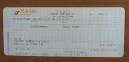 ITALIA Ticket Biglietto Treno Tariffa 39/01  ALESSANDRIA / ACQUI TERME - 2007 - Chemins De Fer