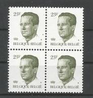 OCB 2160 ** Postfris Zonder Scharnier  In Blok Van 4 - 1981-1990 Velghe