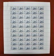 Feuille Complète De 50 Valeurs FRANCE 1947 N°786 ** (SAINT-NAZAIRE. COMMANDO BRITANNIQUE. 6F + 4F BLEU-NOIR) - Feuilles Complètes
