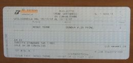 ITALIA Ticket Biglietto Treno Tariffa 1/REG  ACQUI TERME / GENOVA - 2007 - Chemins De Fer