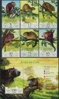 CUBA 2016 Hutias Of Cuba Rodents Animals Fauna MNH - Rodents