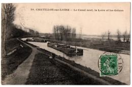 CPA 45 - CHATILLON SUR LOIRE (Loiret) - 29. Le Canal Neuf, La Loire, Les Grèves - Chatillon Sur Loire