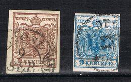 D3 - Autriche - Austria - YT 4 - 6k Brun Et YT 5 9k Bleu - Oblitérés - TB - Usati