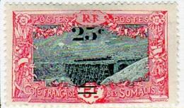 Cote Des Somalis 1924-27 Surcharges YT 116 - Französich-Somaliküste (1894-1967)