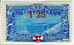 Cote Des Somalis 1924-27 Surcharges YT 117 - Französich-Somaliküste (1894-1967)