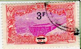 Cote Des Somalis 1924-27 Surcharges YT 119 - Französich-Somaliküste (1894-1967)