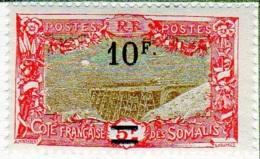 Cote Des Somalis 1924-27 Surcharges YT 120 - Französich-Somaliküste (1894-1967)