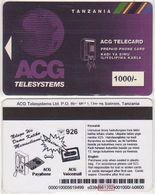 369/ Tanzania; P14. AGC Logo, 1000/-, Made 02.12.98 - Tanzania
