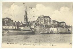 89/CPA - Auxerre - Eglise Saint Germain Et Les Quais - Auxerre