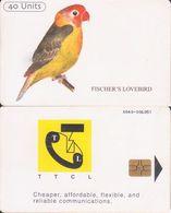 376/ Tanzania; P15. Fischer's Lovebird, Reverse A - Tanzania