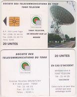 380/ Togo; P21. Earth Station, 20 Ut. - Togo