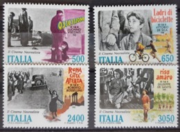 ITALIE / YT 1791 - 1794 / CINEMA - VISCONTI - ROSSELINI - DE SICA / NEUFS ** / MNH / COTE : 20.00 € - Cinema