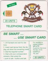 383/ Uganda; P1. Telecom Logo, 20 Ut. - Uganda