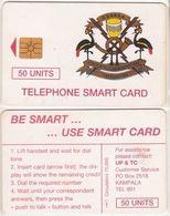 384/ Uganda; P10. Telecom Logo, 50 Ut., 75.000 Ex. - Ouganda