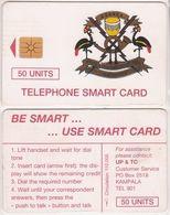 385/ Uganda; P11. Telecom Logo, 50 Ut., 110.000 Ex. - Ouganda