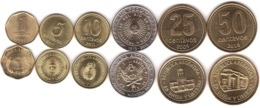 Argentina - Set 6 Coins 1 5 10 25 50 Centavos 1 Peso 1992 - 2011 UNC Lemberg-Zp - Argentina