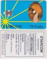 387/ Uganda; Starcom, P5. Gru - Blue, 75 Ut. - Uganda