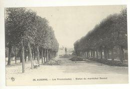 89/CPA - Auxerre - Les Promenades - Statue Du Maréchal Davout - Auxerre