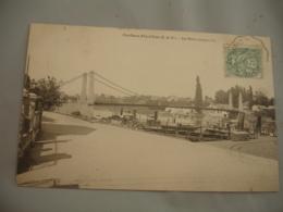 Cpa 78  Conflans Sainte Honorine  Pont Suspendu Peniche - Conflans Saint Honorine