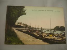 Cpa 78  Conflans Sainte Honorine Peniche Les Docks Carte Colorisee - Conflans Saint Honorine