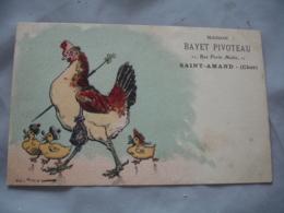 Cpa 18 Maison Bayet Pivoteau Rue Prte Martin  Saint Amand Carte Publicite  Illustrateur Poule Humanisse Canard - Saint-Amand-Montrond
