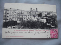 Cpa 1903 Alexandrie Egypte Vue Generale De La Place Eglise - Alexandrie