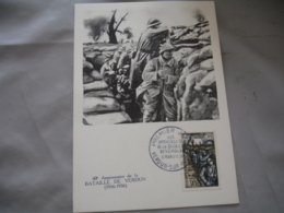 1956  Bataille De Verdun C M Carte Maximum - Maximum Cards