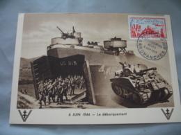1954 Arromanches  Debarquement Allies     Cm Carte Maximum - Maximum Cards