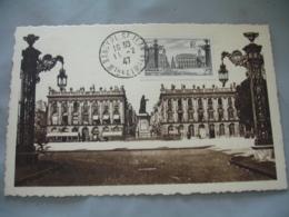 1947 Nancy  Place Stanislas C M Carte Maximum - Maximum Cards