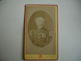 Militaire  Medaille Eug Pirou Cliche Photo Portrait  Homme Cdv - Anonyme Personen