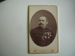 Militaire Medaille Lagriffe Paris  Cliche Photo Portrait  Homme Cdv - Anonyme Personen