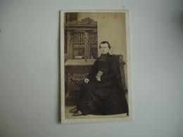 Prete Cure Auguste Menard Granville  Cliche Photo Portrait  Homme Cdv - Anonymous Persons