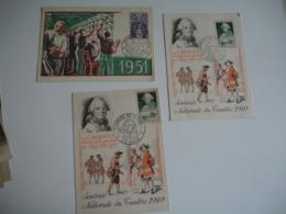 Lot De Carte Maximum   1949 1951 1954 1952  1946 1944 - Maximum Cards