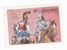Vignette Militaire Delandre - 11ème Régiment De Cuirassiers - Militario